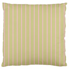 Summer Sand Color Pink Stripes Standard Flano Cushion Case (one Side) by picsaspassion