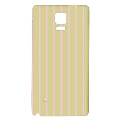 Summer Sand Color Pink Stripes Galaxy Note 4 Back Case by picsaspassion