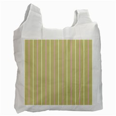 Summer Sand Color Pink And Yellow Stripes Recycle Bag (two Side) by picsaspassion
