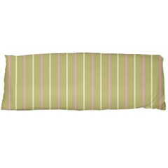 Summer Sand Color Pink And Yellow Stripes Body Pillow Case Dakimakura (two Sides) by picsaspassion