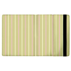 Summer Sand Color Pink And Yellow Stripes Apple Ipad 3/4 Flip Case by picsaspassion