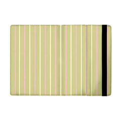 Summer Sand Color Pink And Yellow Stripes Apple Ipad Mini Flip Case by picsaspassion