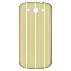 Summer Sand Color Pink And Yellow Stripes Samsung Galaxy S3 S Iii Classic Hardshell Back Case by picsaspassion