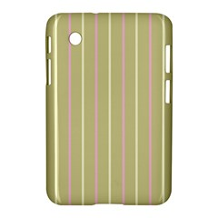 Summer Sand Color Pink And Yellow Stripes Samsung Galaxy Tab 2 (7 ) P3100 Hardshell Case  by picsaspassion
