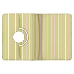 Summer Sand Color Pink And Yellow Stripes Kindle Fire Hdx Flip 360 Case by picsaspassion
