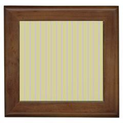 Summer Sand Color Lilac Stripes Framed Tiles by picsaspassion