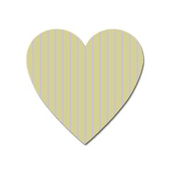 Summer Sand Color Lilac Stripes Heart Magnet by picsaspassion