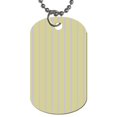 Summer Sand Color Lilac Stripes Dog Tag (two Sides) by picsaspassion
