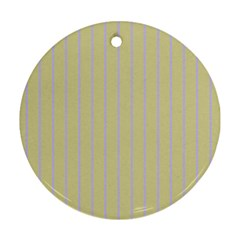 Summer Sand Color Lilac Stripes Round Ornament (two Sides)  by picsaspassion