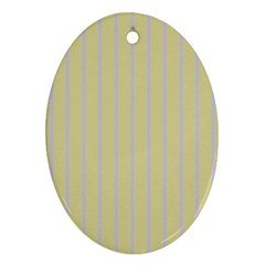 Summer Sand Color Lilac Stripes Oval Ornament (two Sides) by picsaspassion