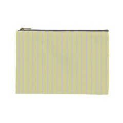 Summer Sand Color Lilac Stripes Cosmetic Bag (large)  by picsaspassion