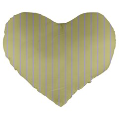 Summer Sand Color Lilac Stripes Large 19  Premium Heart Shape Cushions by picsaspassion