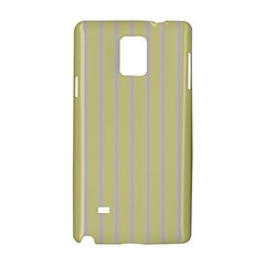Summer Sand Color Lilac Stripes Samsung Galaxy Note 4 Hardshell Case by picsaspassion