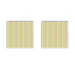 Summer Sand Color Lilac Pink Yellow Stripes Pattern Cufflinks (square) by picsaspassion