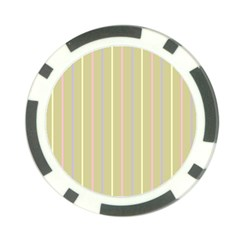 Summer Sand Color Lilac Pink Yellow Stripes Pattern Poker Chip Card Guards by picsaspassion