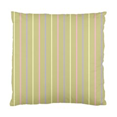 Summer Sand Color Lilac Pink Yellow Stripes Pattern Standard Cushion Case (one Side) by picsaspassion
