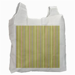 Summer Sand Color Lilac Pink Yellow Stripes Pattern Recycle Bag (one Side) by picsaspassion