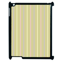 Summer Sand Color Lilac Pink Yellow Stripes Pattern Apple Ipad 2 Case (black) by picsaspassion