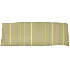 Summer sand color lilac pink yellow stripes pattern Body Pillow Case (Dakimakura) by picsaspassion