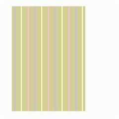 Summer Sand Color Lilac Pink Yellow Stripes Pattern Large Garden Flag (two Sides) by picsaspassion