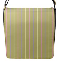 Summer Sand Color Lilac Pink Yellow Stripes Pattern Flap Messenger Bag (s) by picsaspassion