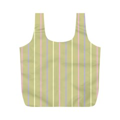 Summer Sand Color Lilac Pink Yellow Stripes Pattern Full Print Recycle Bags (m)  by picsaspassion