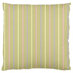 Summer Sand Color Lilac Pink Yellow Stripes Pattern Standard Flano Cushion Case (one Side) by picsaspassion