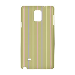 Summer Sand Color Lilac Pink Yellow Stripes Pattern Samsung Galaxy Note 4 Hardshell Case by picsaspassion
