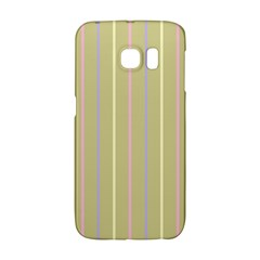 Summer Sand Color Lilac Pink Yellow Stripes Pattern Galaxy S6 Edge by picsaspassion
