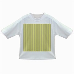 Summer Sand Color Yellow Stripes Pattern Infant/toddler T Shirts by picsaspassion