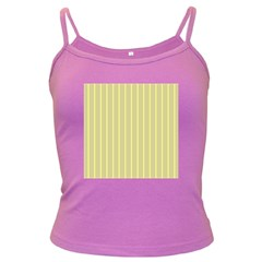 Summer sand color yellow stripes pattern Dark Spaghetti Tank by picsaspassion