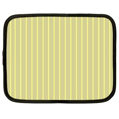Summer Sand Color Yellow Stripes Pattern Netbook Case (xl)  by picsaspassion