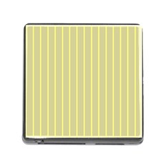 Summer Sand Color Yellow Stripes Pattern Memory Card Reader (square) by picsaspassion