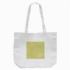 Summer Sand Color Yellow Stripes Pattern Tote Bag (white) by picsaspassion