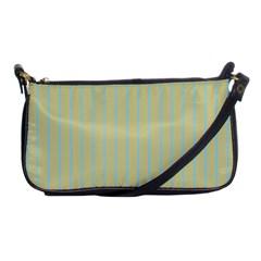 Summer Sand Color Blue Stripes Pattern Shoulder Clutch Bags by picsaspassion