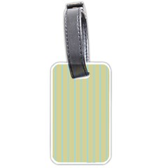 Summer Sand Color Blue Stripes Pattern Luggage Tags (one Side)  by picsaspassion