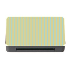 Summer Sand Color Blue Stripes Pattern Memory Card Reader With Cf by picsaspassion
