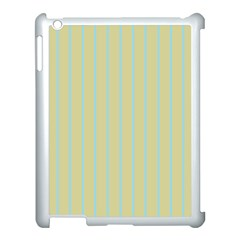 Summer Sand Color Blue Stripes Pattern Apple Ipad 3/4 Case (white) by picsaspassion