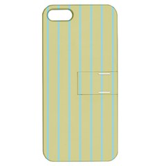 Summer Sand Color Blue Stripes Pattern Apple Iphone 5 Hardshell Case With Stand by picsaspassion
