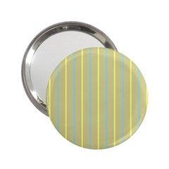Summer Sand Color Blue And Yellow Stripes Pattern 2 25  Handbag Mirrors by picsaspassion