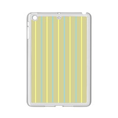 Summer Sand Color Blue And Yellow Stripes Pattern Ipad Mini 2 Enamel Coated Cases by picsaspassion