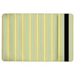 Summer Sand Color Blue And Yellow Stripes Pattern Ipad Air 2 Flip by picsaspassion