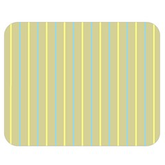 Summer Sand Color Blue And Yellow Stripes Pattern Double Sided Flano Blanket (medium)  by picsaspassion