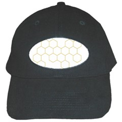 Honeycomb Pattern Graphic Design Black Cap by picsaspassion