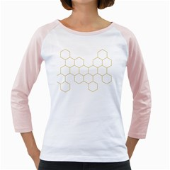 Honeycomb pattern graphic design Girly Raglan by picsaspassion