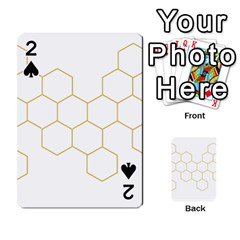 Honeycomb Pattern Graphic Design Playing Cards 54 Designs