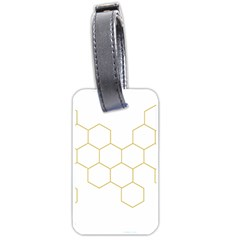 Honeycomb Pattern Graphic Design Luggage Tag (one Side) by picsaspassion