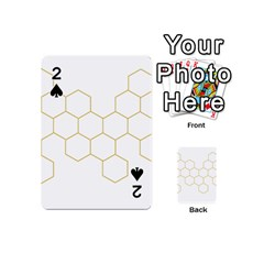 Honeycomb pattern graphic design Playing Cards 54 (Mini) by picsaspassion