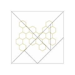 Honeycomb Pattern Graphic Design Acrylic Tangram Puzzle (4  X 4 ) by picsaspassion