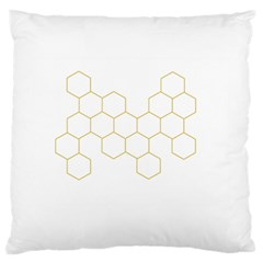 Honeycomb pattern graphic design Large Cushion Case (Two Sides) by picsaspassion